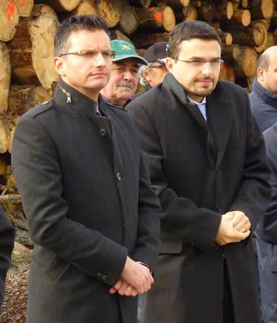 Marjan Šarec in Matej Tonin