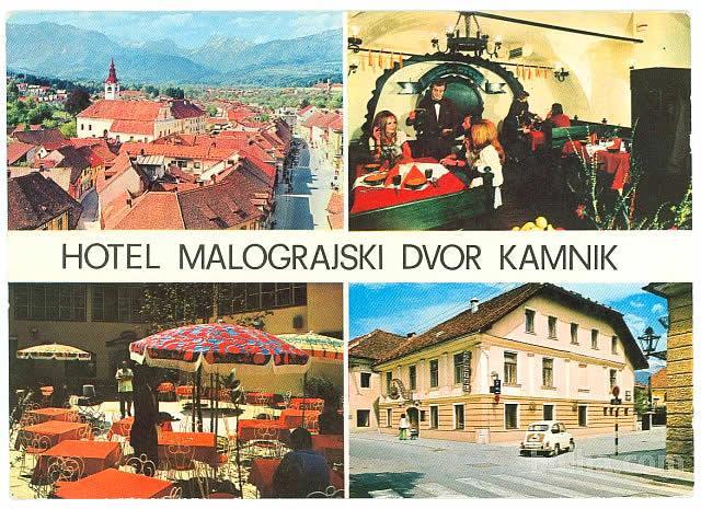 Razglednica hotela Malograjski dvor iz leta 1983.