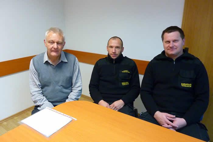 Člani novega nadzornega sveta podjetja Zarja Elektronika:  Roman Radej, Igor Alpner in predstavnik delavcev Simon Dekleva