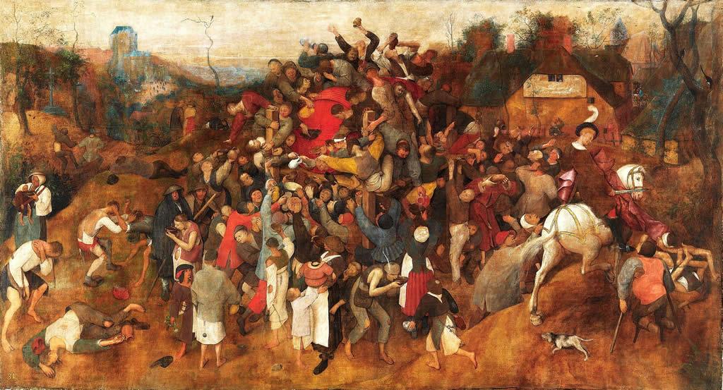 Vino sv. Martina - Pieter Bruegel starejši (1565–1568) Slika se nahaja v madridskem muzeju Prado.