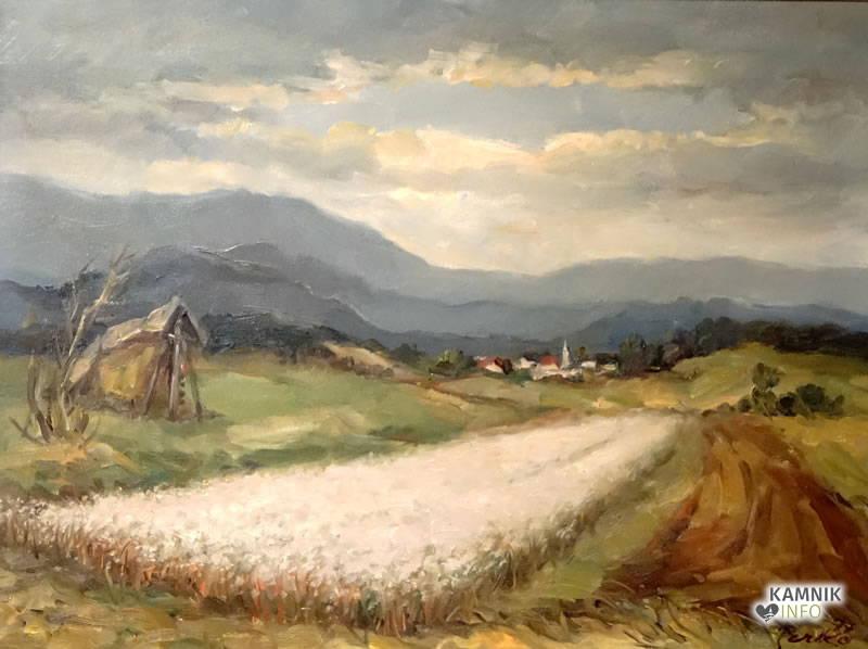 Lojze Perko - Ajda, olje, 78X59 cm, 1977,