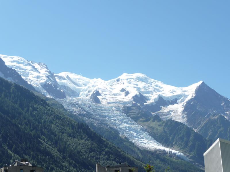 Mogočni Mt Blanc