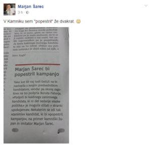 Foto: FB profil Marjana Šarca.