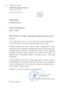 Dopis Ministrstva za okolje in prostor občinam.